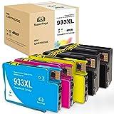 5 Superpage compatibili con HP 933XL 932XL cartucce d'inchiostro per stampanti HP Officejet 6700 6600 7510 7110 7612 6100 7610 7512 (2 x nero, 1 x ciano, 1 x magenta, 1 x giallo)