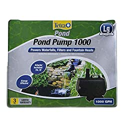 powerful TetraPond 26588 Water Garden Pump, Waterfall / Filter / Fountain Nozzle Water Supply, 500-1000 Gallons