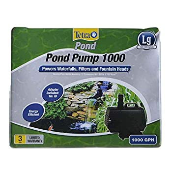 TetraPond 26588 Water Garden Pump Powers Waterfalls/Filters/Fountain Heads 500 to 1000 gallons