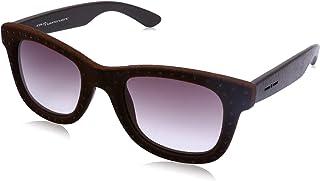 نظارة شمس شبه مربعة بعدسات ارجواني متدرج وشنبر قطيفة مزين بفصوص للنساء من ايطاليا انديبندنت - بني