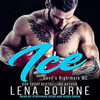 Ice     Devil's Nightmare MC Series, Book 5              Written by:                                                                                                                                 Lena Bourne                               Narrated by:                                                                                                                                 Stephanie Rose,                                                                                        Aiden Snow                      Length: 6 hrs and 50 mins     Not rated yet     Overall 0.0