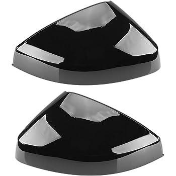 2pcs brillant Miroir c/ôt/é noir Housses for Cap Audi A3 S3 8V RS3 Perle Noir Brillant 2013 2014 2015 2016 2018 2017 2019