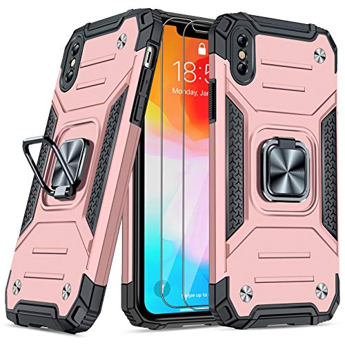 JAME Case for iPhone Xs Max Case with Screen Protector [2Pcs],...