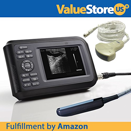 Best Bargain Portable Ultrasound Scanner Veterinary Pregnancy V16 with 3.5 MHz Convex Probe and 7.5 ...