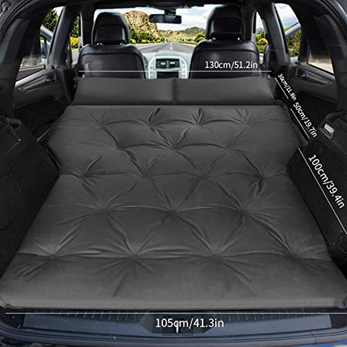 wenxin Automatic Inflatable Bed SUV Dedicated Car Travel Bed Trunk Air Cushion Off-road Vehicle Car Mattress Car Bed,Inflatable Mattress Car Air Mattress Bed (Color Name : Double gray)