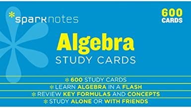 Algebra SparkNotes Study Cards