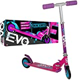 EVO Pink Folding Inline Scooter | Kids 2-Wheel Scooter Perfect For Boys