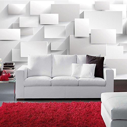 Leekkoka muurbehang muur muurschildering moderne 3D stereoscopische grote muurschildering doos kubus muur papier woonkamer bank slaapkamer behang muurschilderingen 3D 210cm*140cm(H)
