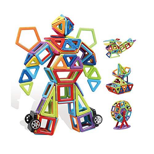 TGRBOP 109Pcs Magnetische Bausteine Stapelset 3D-Bausteine Magnetbausatz STEM Lerngeschenk Spielzeugspiele Unterhaltsame Aktivitäten Für Kinder Kinder Kleinkinder