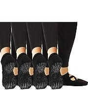 LA Active Grip Sokken - Yoga Pilates Barre Antislip Ballet Gekruiste Bandjes