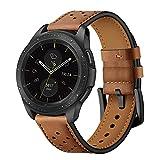 Montre à Bracelet en Cuir Brun à dégagement Rapide 20mm pour Samsung Galaxy Watch...
