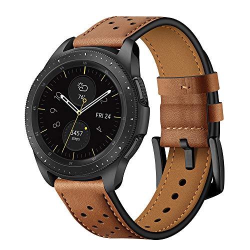 Aimtel Cinturino Compatibile con Galaxy Watch 42mm / Bracciale Orologio Garmin Vivoactive 3, Cinturino in pelle 20mm per Galaxy Watch 42mm / Garmin Vivoactive 3 / Galaxy Watch Active 2 (Marrone)