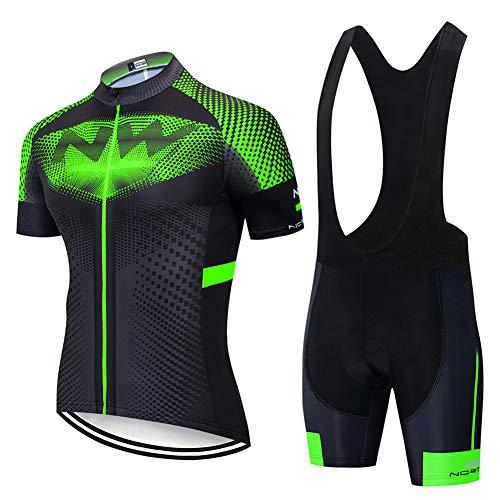 Ciclismo Maillot Hombres Jersey + Pantalones Cortos Culote Mangas Cortas de Ciclismo...
