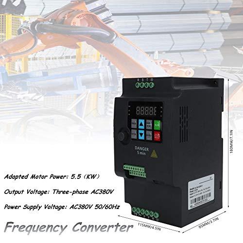 Frequenzumrichter 380V 5,5KW,Jectse 3-phasig 380V bis 3-phasig 380V PWM-Steuerung Mini VFD Inverter Vektorregelung VFD Drehzahlregler