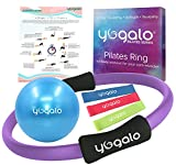 Yogalo Pilates Series Pilates Ring - Toning, Sculpting, Strength and Flexibility, Power Resistance Exercise Circle, Thigh Toner, Fitness Magic Circle, 14 Inch Dual Grip Ring (Purple)