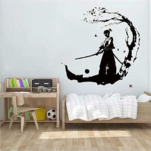 Vinilo Ninja Samurai Wall Sticker Warrior adecuado para niñas niños niños