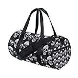 Gothic Skull Duffel Bag,Canvas Travel Bag for Gym Sports and Overnight