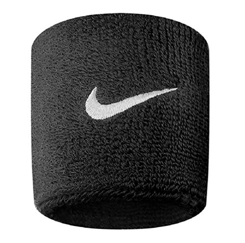 Nike Swoosh Wristbands Schweißband 2er Pack (one size, black/white)