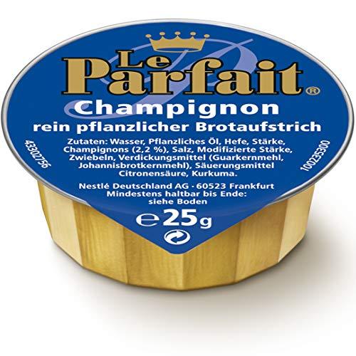 Le Parfait Champignon, Veganer Brotaufstrich Herzhaft Cremig und Pflanzlich, o.k.A., 1 Karton (120 x 25g)