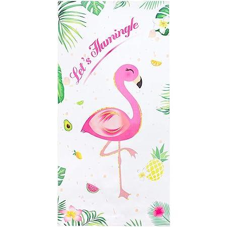 WERNNSAI Serviette de Plage Flamant - Articles de fête Tropicaux Hawaiians 76 × 152cm Microfibre Piscine Couverture de Plage Voyage Vacances Plage Cadeau pour Les Filles Femmes