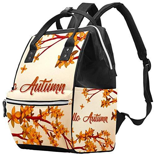 Grand sac à langer multifonction pour bébé Motif Hello automne fond sac à langer sac à dos voyage pour maman et papa