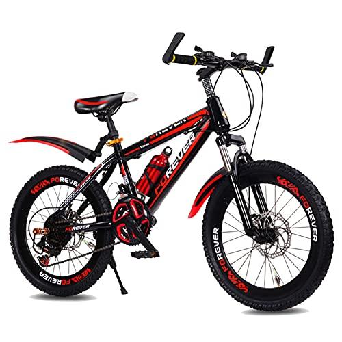 Axdwfd Infantiles Bicicletas Bicicleta De Montaña De 20 Pulgadas, Bicicleta Al Aire Libre del Estudiante, Bicicleta para Niños del 95%, 3 Colores(Color:Rojo)