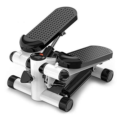 FZYE Inicio Ejercicio Máquina de Pasos Ejercitador de Pasos Fitness Toner Mini Stepper con Cuerdas de Entrenamiento, Negro