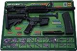 "Tactical Atlas Gun Cleaning Mats (OD Green AR-15 17x26"" Padded Gun Mat with HD Quality Images..."