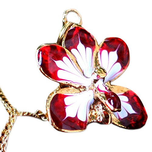 NOVICA Yellow Gold Plated Brass Handmade Natural Orchid Pendant Necklace, 18', Timeless Dancer'