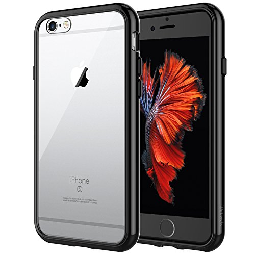 JETech Case for Apple iPhone 6 and iPhone 6s, Shock-Absorption Bumper Cover, Anti-Scratch Clear Back (Black)