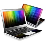 MightySkins Skin Compatible with Samsung Chromebook 11.6' Screen XE303C12 Notebook wrap Sticker Skins Rainbow Streaks