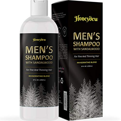 Men's Shampoo with Sandalwood – 2 in 1 Invigorating Shampoo for Thicker Hair – With East Indian Sandalwood & Argan Oil – Cleanse and Stimulate Hair & Scalp with This Revitalizing Formula