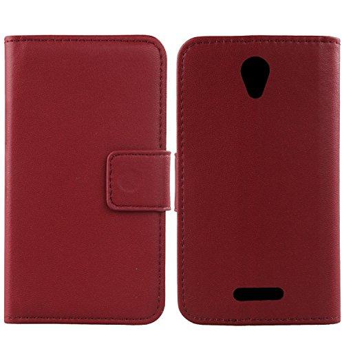 Gukas Echt Leder Tasche Für Alcatel One Touch Pop 4 Plus 5.5