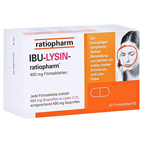 Ibu-Lysin 400mg Ratiopharm 50Stk