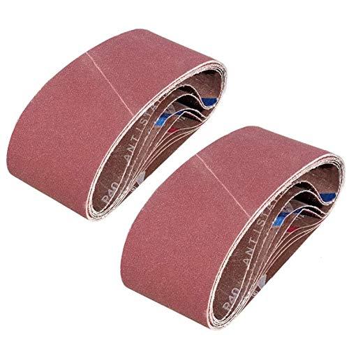 SACKORANGE 15 PCS 4 x 24 Inch Sanding Belts | 80 Grit Aluminum Oxide Sanding Belt | Premium Sandpaper for Portable Belt Sander (80 Grit)