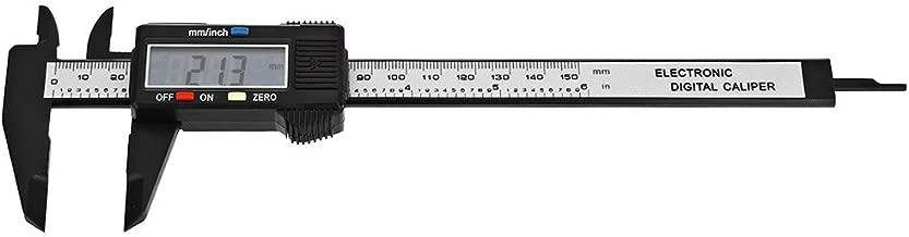 150mm 6inch LCD Digital Electronic Carbon Fiber Vernier Caliper Gauge Micrometer Measuring Tool