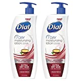 Dial 7-Day Moisturizing Lotion with Shea Butter For Extra Dry Skin, 21 Ounce Pump Bottle (2 Pack)