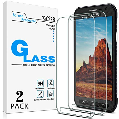 KATIN Galaxy S6 Active Screen Protector - [2-Pack] For Samsung Galaxy S6 Active Tempered Glass (Not For Galaxy S6) 9H Hardness