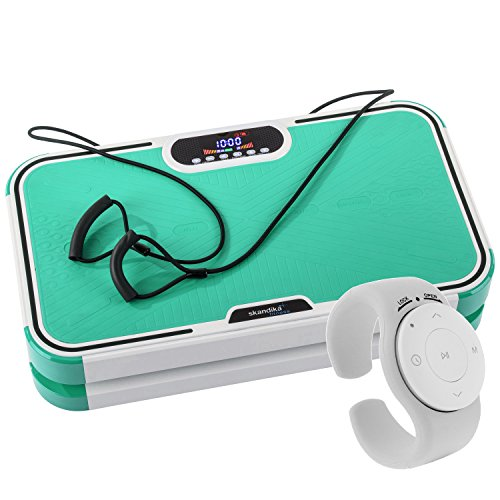 skandika Vibration Plate 800 Design Fitness Vibrationsplatte Fernbedienung Tragbar Fertig montier (grün)