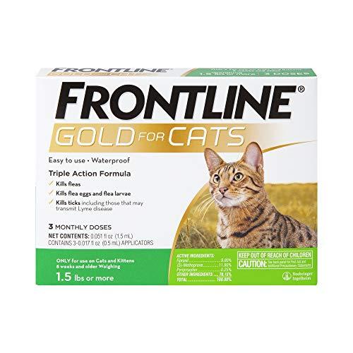FRONTLINE Gold for Cats Flea & Tick Spot Treatment, 3ct