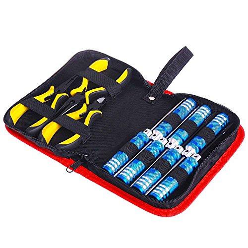 Eleganantimpresionante Juego de Herramientas de reparación de Drones 10 en 1 Hex Llaves Destornillador alicates Kit Caja para RC Modelo Juguetes con Paquete portátil
