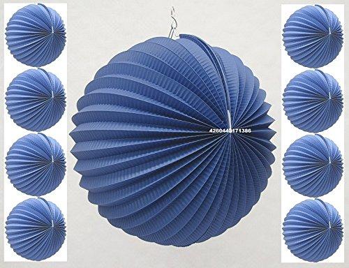 Lampions Blau D-25cm SEF 9er-Pack Blaue Papierlampions kaufen