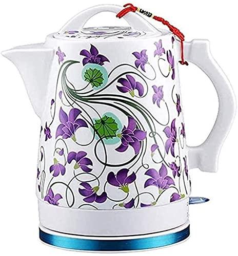 vfrt Fischietto elettrico in ceramica Premium Cordless per acqua calda, bollitore elettrico per tè, distributore automatico a doppia parete Cool Touch (dimensioni: 1)