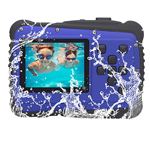 "Vmotal GDC5261 Impermeable cámara Digital con Zoom Digital de 8X / 8MP / 2"" TFT LCD de la Pantalla/Cámara Impermeable para niños (Azul)"