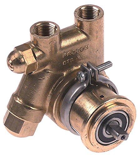 PROCON Pumpe für Kaffeemaschine für Drucksteigerungspumpe mit Filter Länge 82mm Achse ø 4,8x11mm Anschluss 3/8' NPT 3/8' NSF