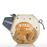 Kücheks Regalo del Arte Animal de la Escultura del Metal de la decoración del hogar del envase del Corcho del Vino guarro