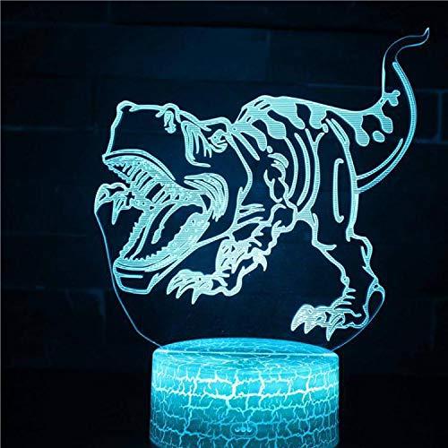 3D Tischlampe Spinosaurus Hallorum Argentinosaurus Tyrannosaurus Optische Täuschung Nachtlicht Kinder Geschenk Cartoon Dinosaurier Tier