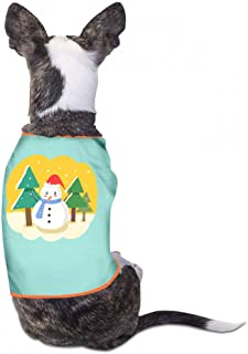 Pet Clothes Christmas Pet Clothes Dog T-Shirts Clothes Merry Christmas Pet Dog Summer Vest Fashion T-Shirt Breathable Sleeveless Summer - (Sky Blue, Gray, Yellow, Black)