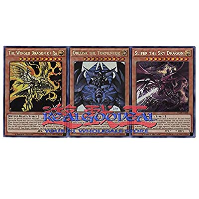 YuGiOh! Egyptian Gods Set Obelisk slifer ra All from TN19 promos by Realgoodeal