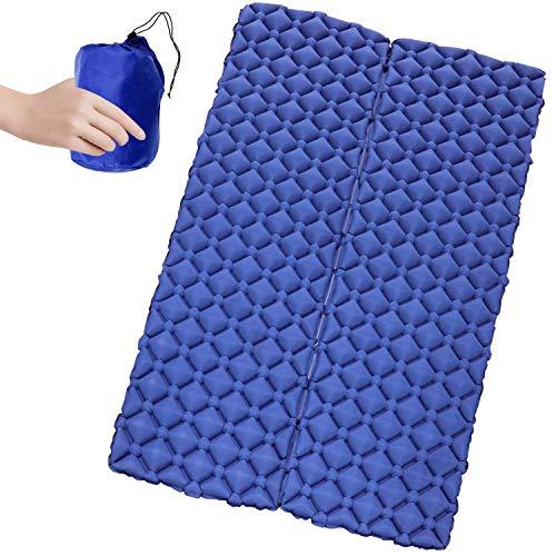 BooQool Aufblasbare Isomatte für 2 Personen - Doppel-Isomatte Air Matratze, Schlafmatte für Camping, Reise, Outdoor, Wandern, Strand
